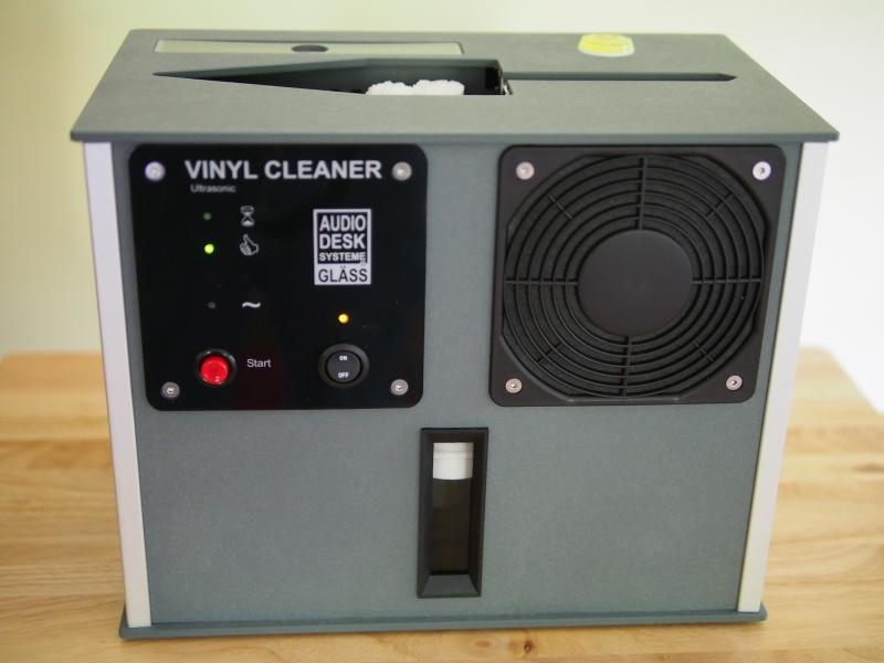 Audio Desk's Vinyl Cleaner, made by Reiner Glass in Germany